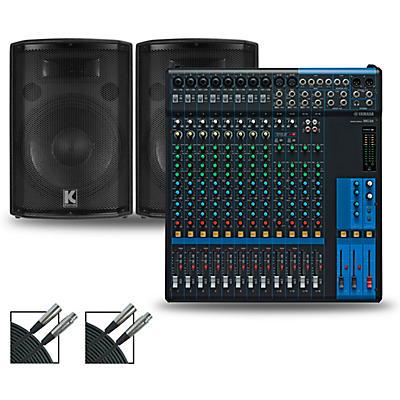 Yamaha MG16 Mixer and Kustom HiPAC Speakers