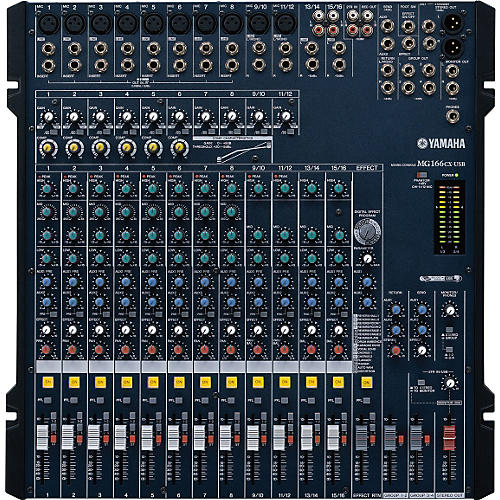 yamaha mg166cx usb 16 channel usb mixer with compression and effects rh musiciansfriend com Yamaha MG166CX Owner's Manual yamaha mixing console mg166cx manual español