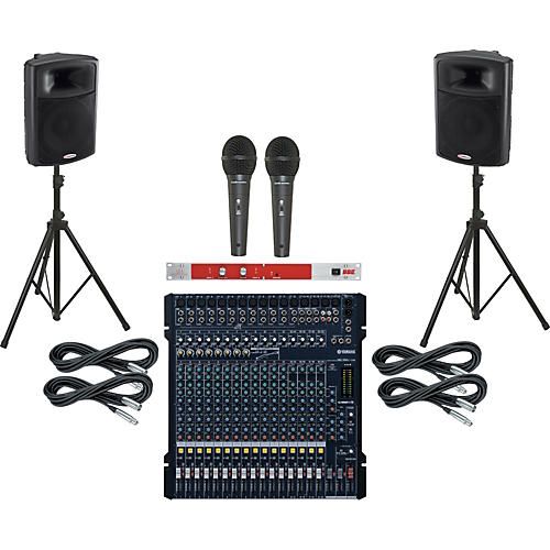 Yamaha MG206C-USB / Harbinger APS15 PA Package with BBE 382i
