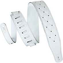 Levy's MG26DS 2.5'' White Garment Leather Guitar Strap