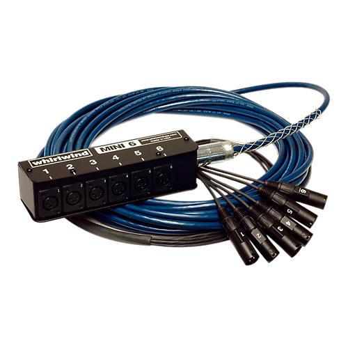 Whirlwind MINI-6 Low Profile Audio Drop Snake 6x6