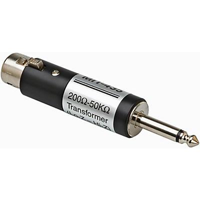 """Hosa MIT435 XLR Female LO-Z to 1/4"""" TS Male HI-Z Microphone Input Impedance Transformer"""