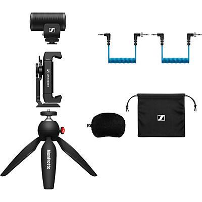 Sennheiser MKE 200 MOBILE KIT - Includes MKE 200 Directional On-Camera Microphone, Manfrotto PIXI Mini Tripod and Sennheiser Smartphone Clamp