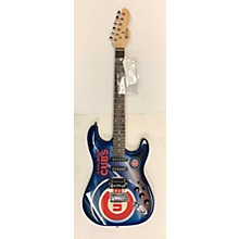 Woodrow Guitars MLB Northender Chicago Cubs Solid Body Electric Guitar