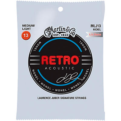 Martin MLJ13 Retro Medium/Light Guitar Strings (LJ's Choice) - 6 Strings
