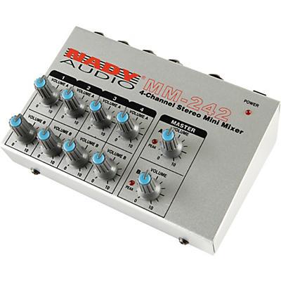 Nady MM-242 4-Channel Mini Mixer