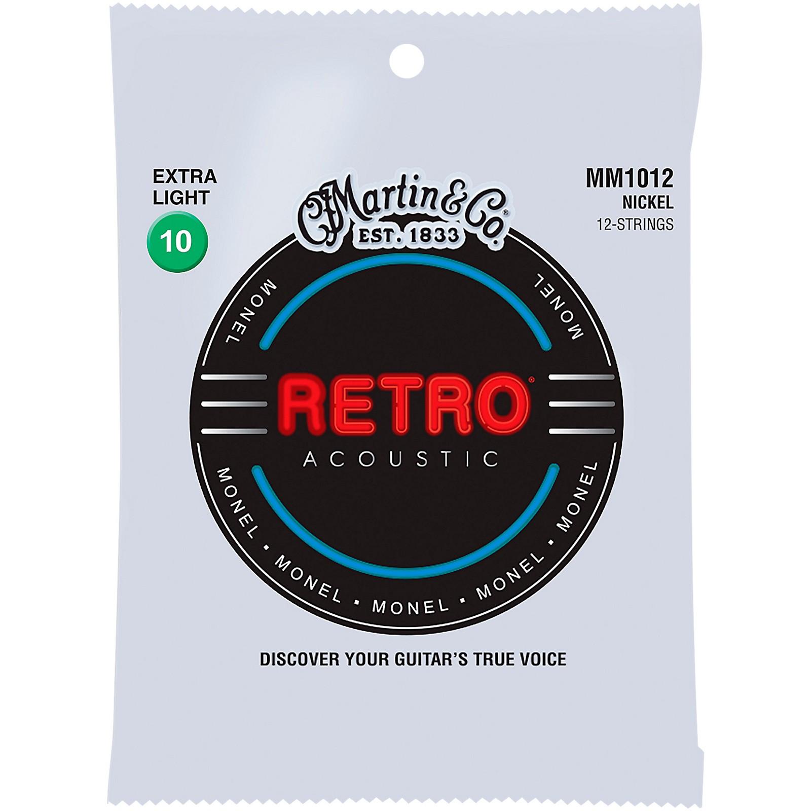 Martin MM102 Retro Extra Light 12-String Guitar Strings