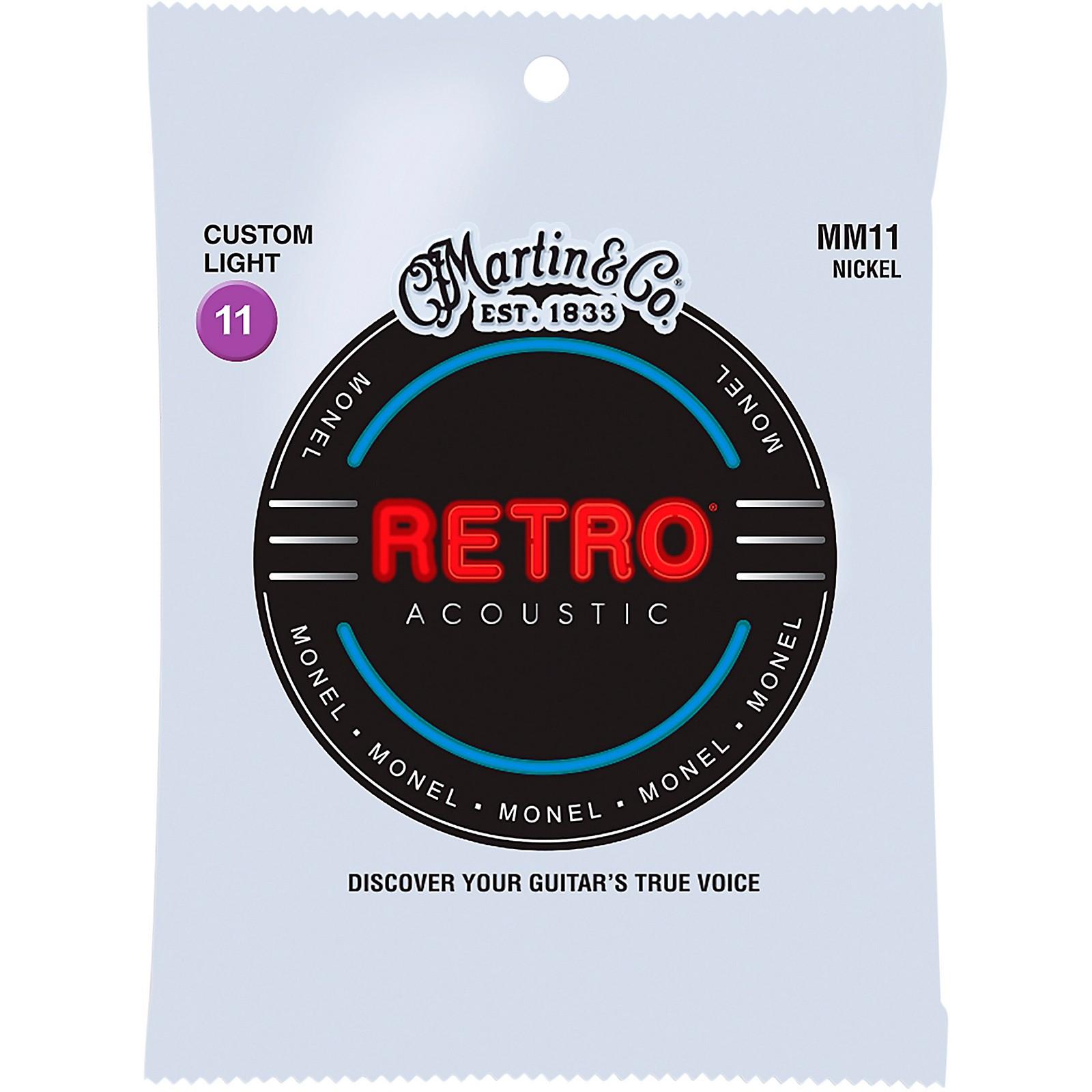 Martin MM11 Retro Custom Light Acoustic Guitar Strings