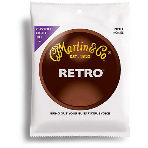 Martin MM11 Retro Series Custom Light Acoustic Guitar Strings