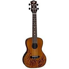 Open BoxLuna Guitars MO CDR Concert Acoustic-Electric Ukulele