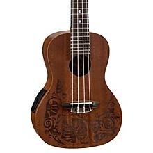 Open BoxLuna Guitars MO EL Concert Acoustic-Electric Ukulele