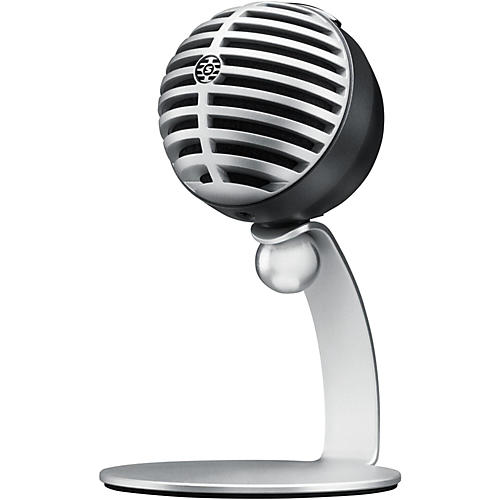 Shure MOTIV MV5 Digital Condenser Microphone With USB and Lightning Cables Included (Previous Version) Gray