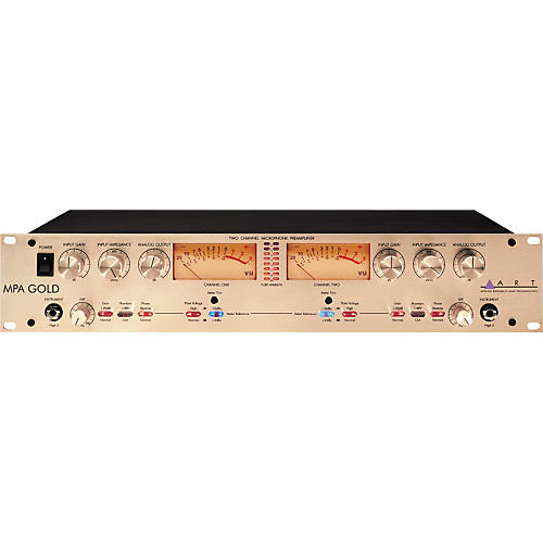 ART MPA Gold 2 Channel Microphone Preamp with Variable Impedance