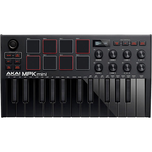 Akai Professional MPK Mini MK3 Keyboard Controller Black on Black