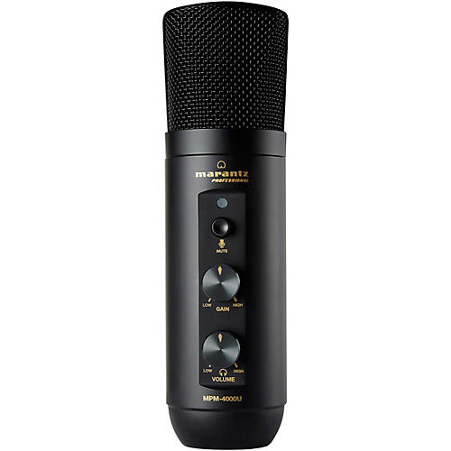 Marantz Professional MPM4000U USB Podcasting Microphone with Built In Mixer and Headphone Output