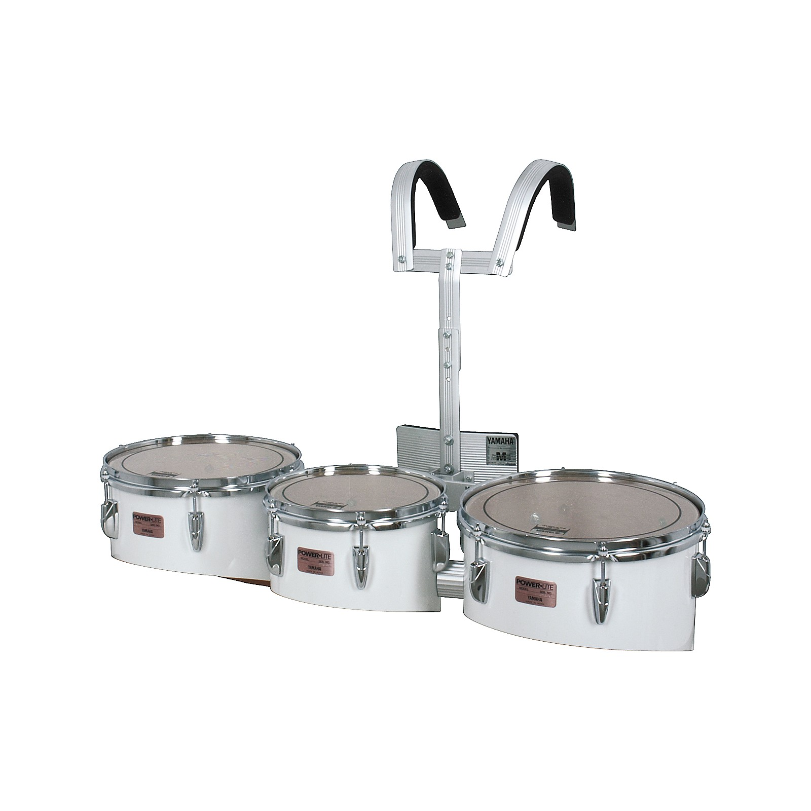 Yamaha MQL-023 Power-Lite Marching Tom Trio with Carrier & Case