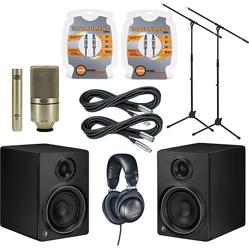 Mackie MR5mk2 Monitor and A/T Mic Package