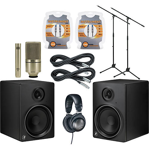 Mackie MR8mk2 Monitor and A/T Mic Package