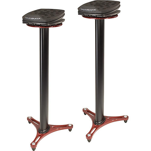 Ultimate Support MS-100 Studio Monitor Stand Pair Condition 1 - Mint Red