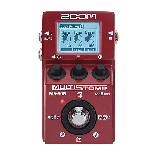 Zoom MS-60B Multi-Stomp Bass Pedal Condition 1 - Mint