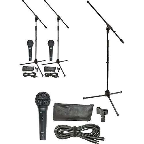 On-Stage MS7510 Mic & Stand Pro Three Pack