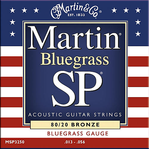 Martin MSP3250 SP Bronze Bluegrass Medium Acoustic Guitar Strings