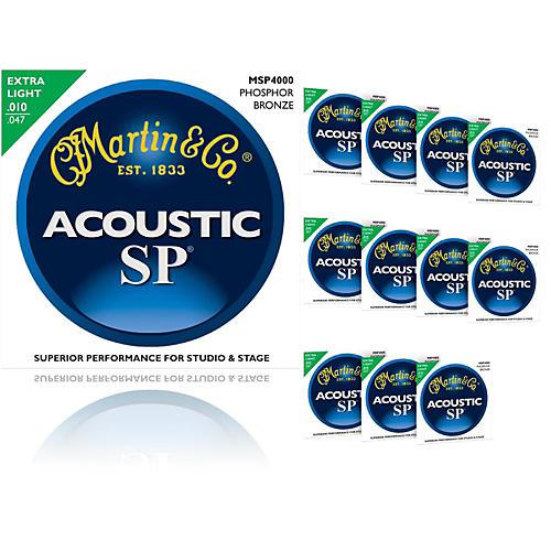 Martin MSP4000 SP Phosphor Bronze Extra Light 12-Pack Acoustic Guitar Strings