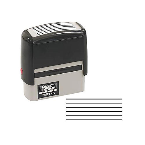 The Music Stamp Series MST-G 6 Line Guitar Tablature Stamp