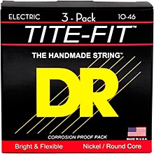 DR Strings MT-10 Tite-Fit Medium Electric Guitar Strings 3-Pack