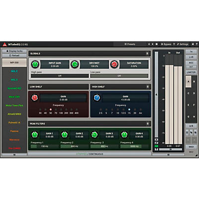 MeldaProduction MTurboEQ Vintage-Style Equalizer Software Download