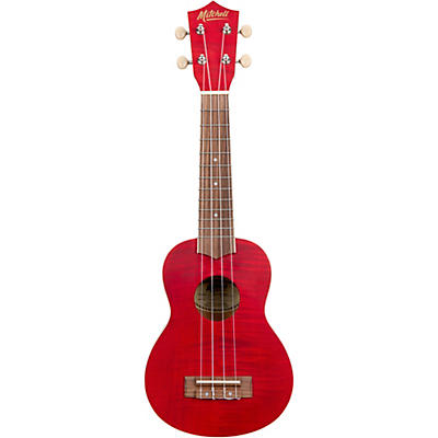 Mitchell MU45F Exotic Soprano Ukulele Flamed Maple
