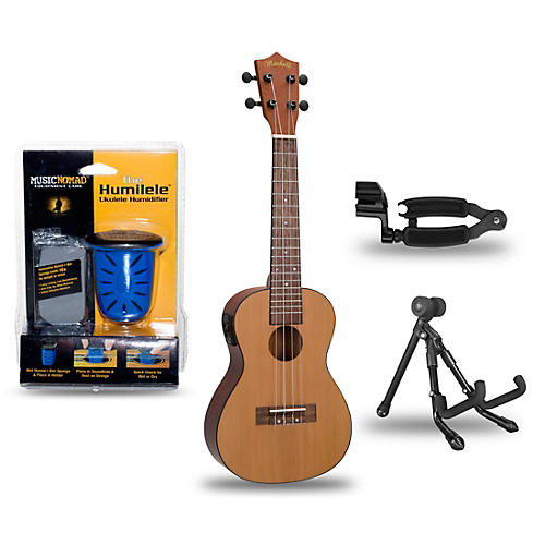 mitchell mu50se acoustic electric concert ukulele deluxe package musician 39 s friend. Black Bedroom Furniture Sets. Home Design Ideas