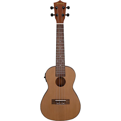 mitchell mu50se acoustic electric concert ukulele with solid cedar top natural musician 39 s friend. Black Bedroom Furniture Sets. Home Design Ideas