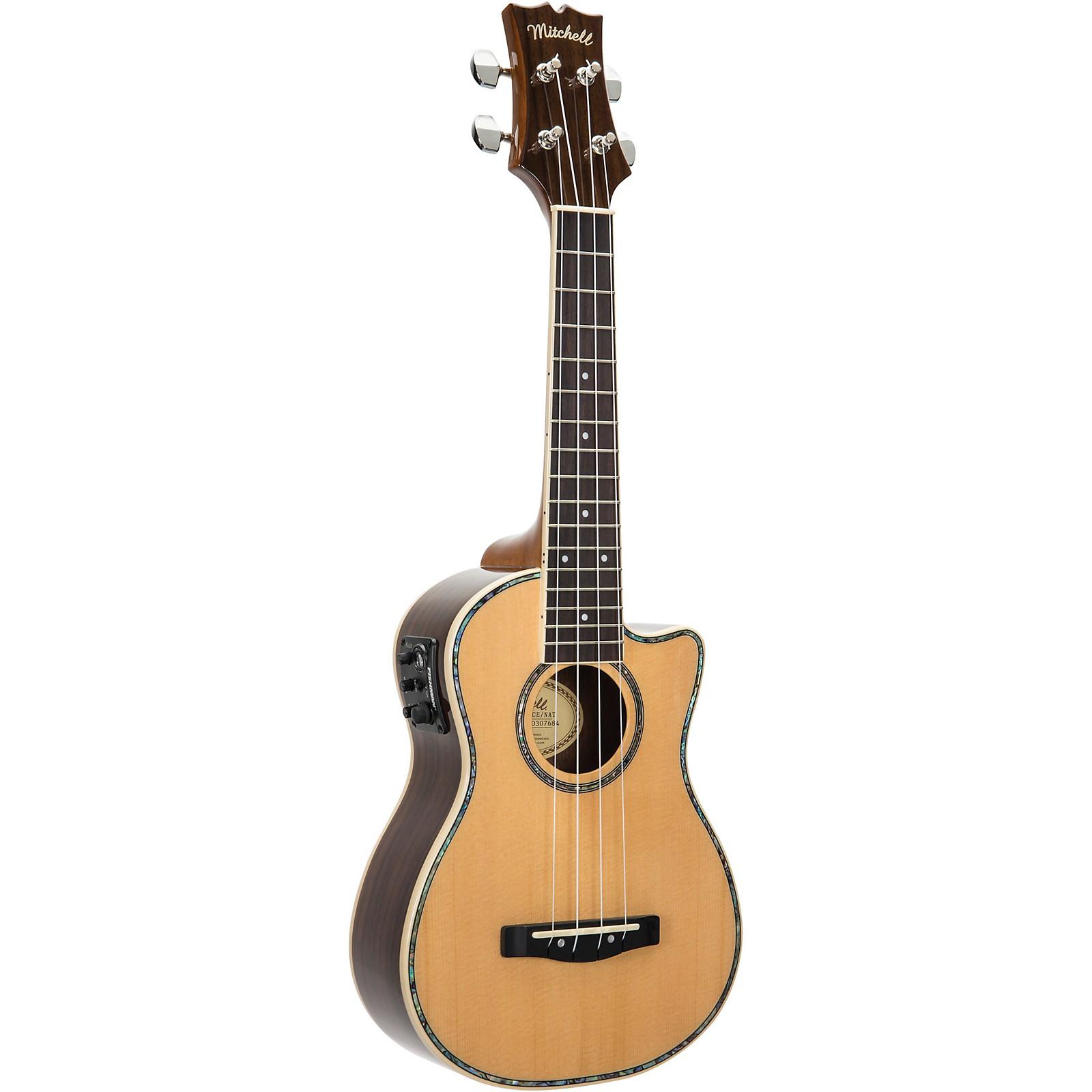 Mitchell MU70CE Cutaway Acoustic-Electric Concert Ukulele