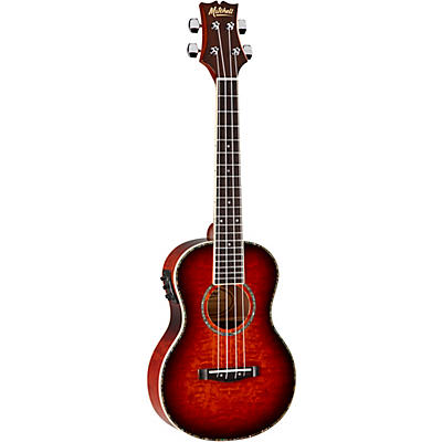 Mitchell MUT80XE-QAB-WSK Exotic Acoustic Electric Ukulele Quilt Ash Burl