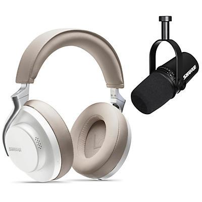 Shure MV7-K USB Microphone and AONIC 50 Headphones Content Creator Bundle