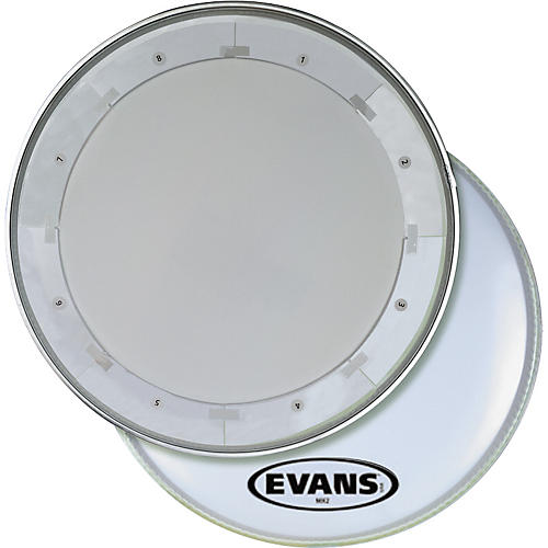 Evans MX1 White Marching Bass Drum Head 32 in.
