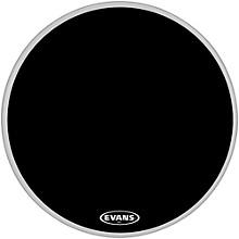 MX2 Black Marching Bass Drum Head Black 32 in.