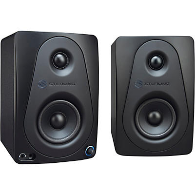 "Sterling Audio MX3 3"" Active Studio Monitor Pair, Black"