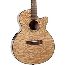 Open BoxMitchell MX430-QAB-NAT Exotic Series Acoustic-Electric Quilted Ash Burl