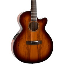 Open BoxMitchell MX430 Spalted Maple Acoustic-Electric Guitar