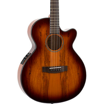 Mitchell MX430 Spalted Maple Acoustic-Electric Guitar