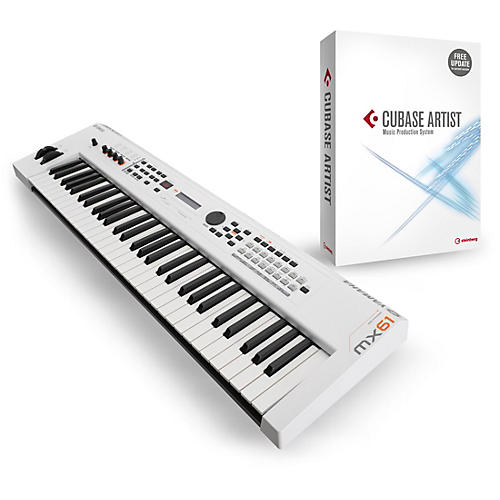 Yamaha MX61 61-Key Music Production Workstation White with Cubase Artist