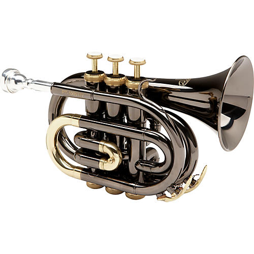 Allora MXPT-5801-BK Black Nickel Series Pocket Trumpet