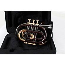 Open BoxAllora MXPT-5801-BK Black Nickel Series Pocket Trumpet
