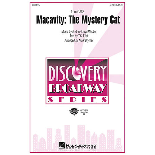 Hal Leonard Macavity: The Mystery Cat (from Cats) ShowTrax CD Arranged by Mark Brymer