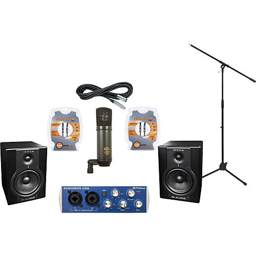 M-Audio Mackie Onyx Blackbird and M-Audio BX5a Recording Package