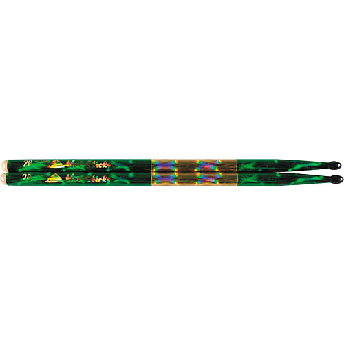 Hot Sticks Macrolus Strike Zone XL Green Optic Drumsticks