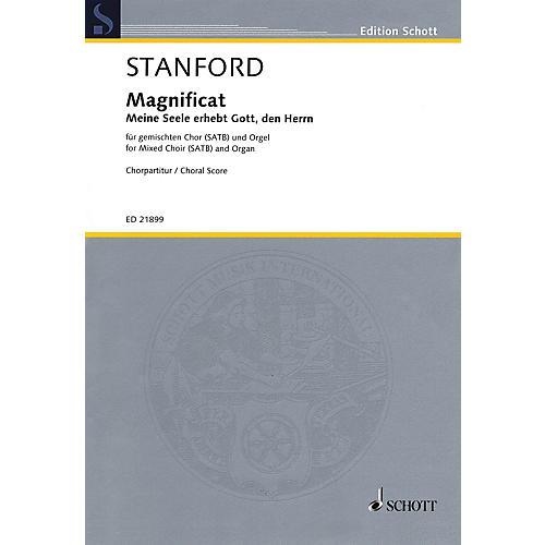 Schott Magnificat - Meine Seele erhebt Gott, den Herrn (SATB and Organ) SATB by Charles Villiers Stanford