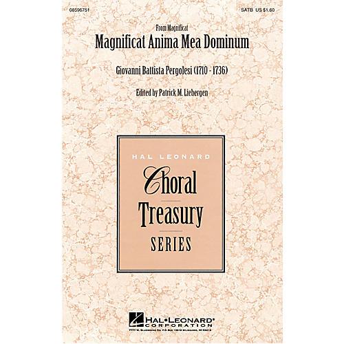 Hal Leonard Magnificat Anima Mea Dominum SATB arranged by Patrick M. Liebergen